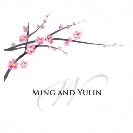 La carte personnalisée fleur de cerisier