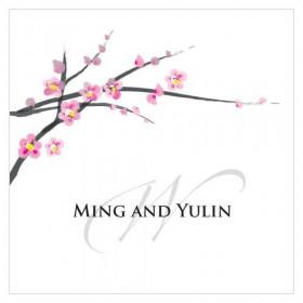 Les 2 cartes personnalisées fleur de cerisier