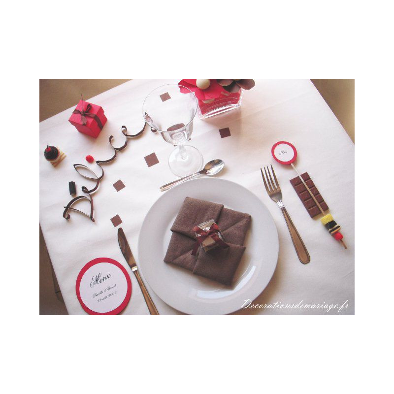 Fabuleux mariage gourmandise menu sucette EI08