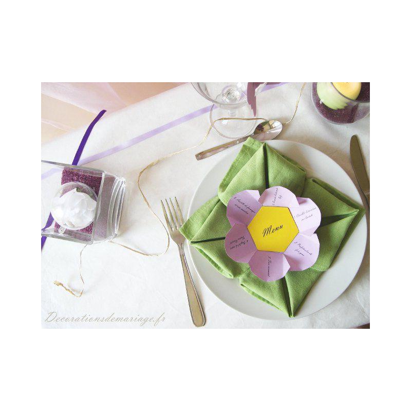 mariage menu fleur. Black Bedroom Furniture Sets. Home Design Ideas