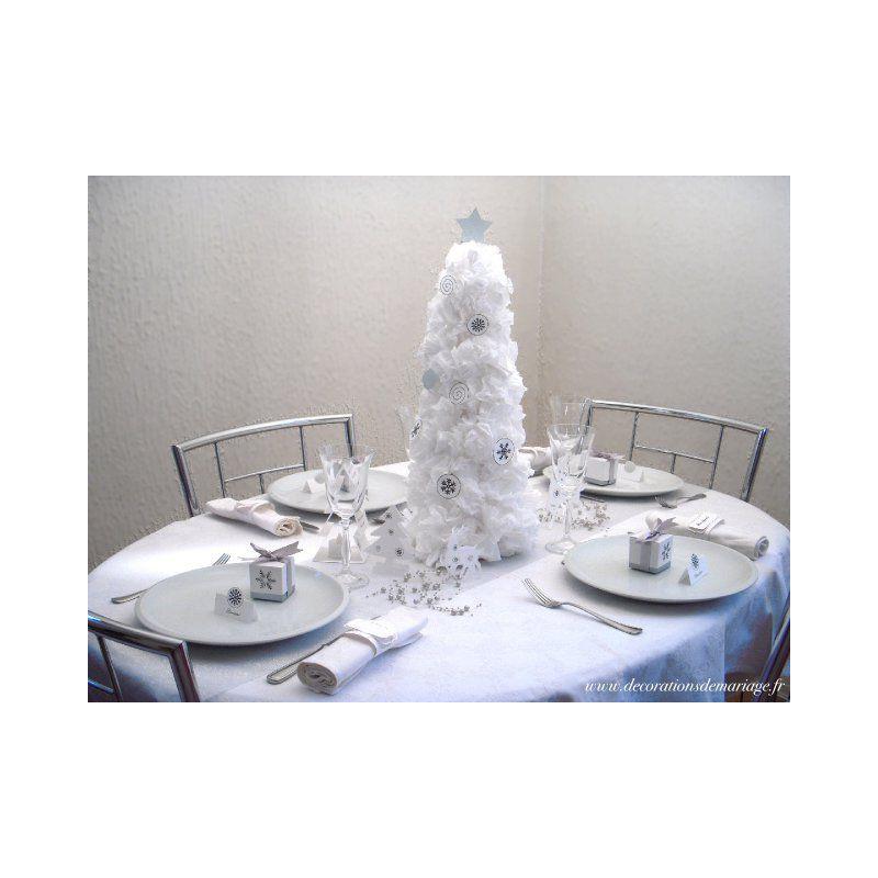 Decoration table noel de papier - Deco noel papier crepon ...