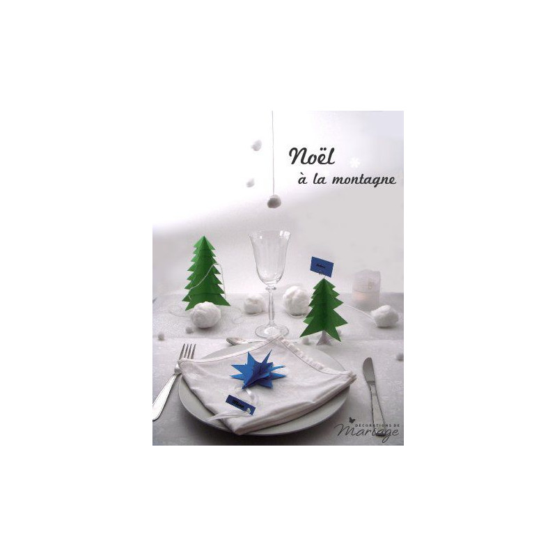 Decoration Table Noel Marque Place Sapin