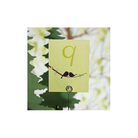 Les 12 numéros de table oiseaux d'amour