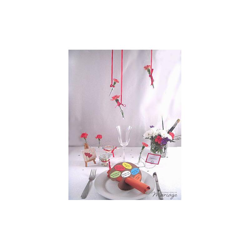 Diy id e menu mariage en palette de peinture for Decoration de peinture