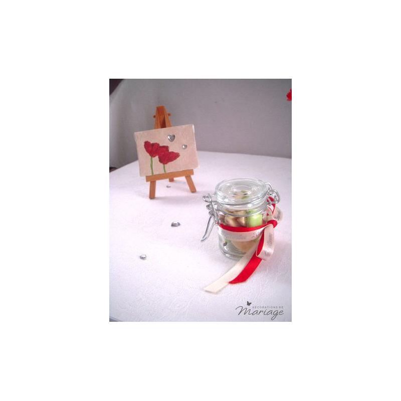 Mariage peinture marque place eprouvette vase Marque de deco