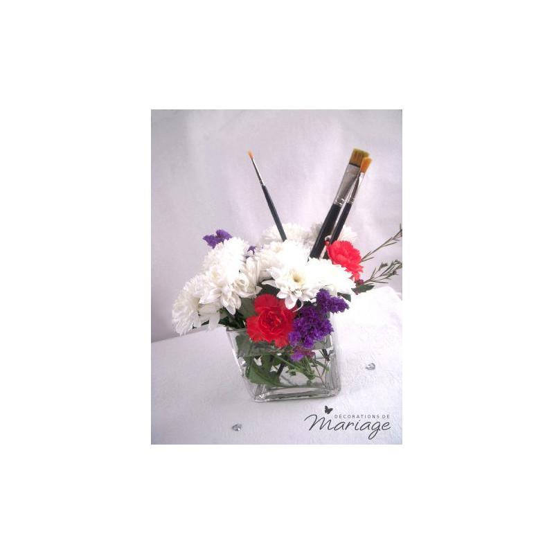 mariage peinture marque place eprouvette vase. Black Bedroom Furniture Sets. Home Design Ideas