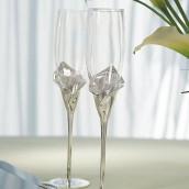 Les 2 flûtes à champagne arum