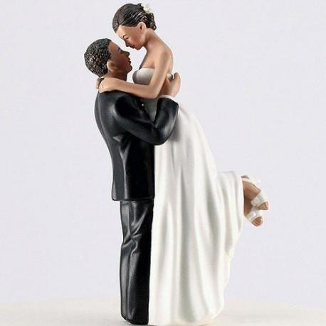 Figurine Mariage Romance Couple Brun