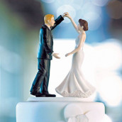 La figurine de mariage danseurs pour gâteau