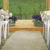 Le tapis d'église en toile de jute