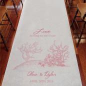 Le tapis d'église personnalisé corail (8 coloris)