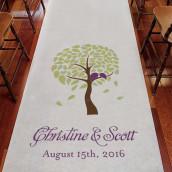 Le tapis d'église personnalisé arbre