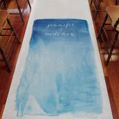 Le tapis d'église personnalisé aquarelle