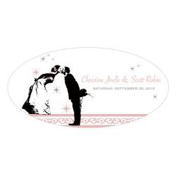 Le sticker personnalisé mariés pour voiture
