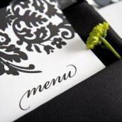 Décoration mariage baroque : le menu