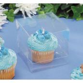 Les 12 boîtes en plastique transparent pour cupcake