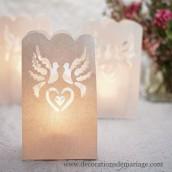 Les 12 sacs lanternes papier colombes