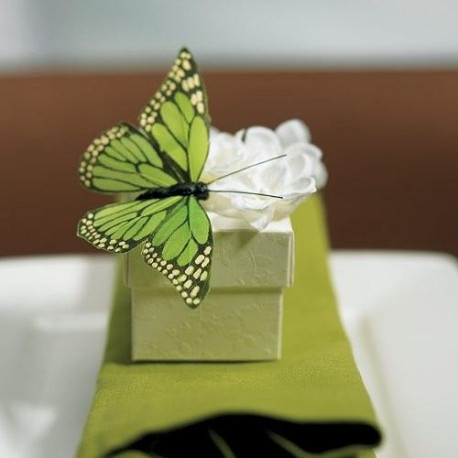 papillon en plume decoration champetre. Black Bedroom Furniture Sets. Home Design Ideas