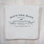 Le mouchoir personnalisé save the date