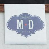 La bannière personnalisée monogramme vintage