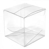 La boite à dragées cube en plastique transparent (par 10)