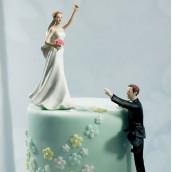 La figurine de mariage mariée gagnante en porcelaine