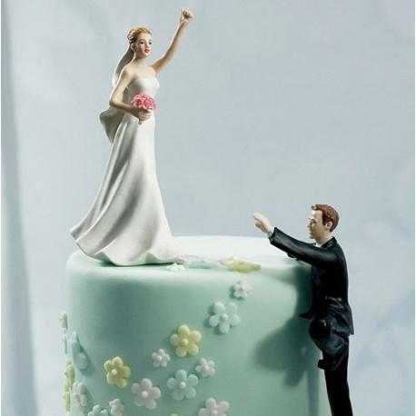 La figurine de mariage mariée gagnante