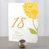 Les 12 numéros de table zinnia
