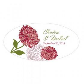 Le sticker zinnia géant 30,8cm -8 coloris