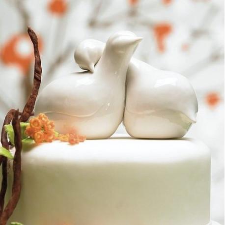 La figurine de mariage oiseaux d'amour