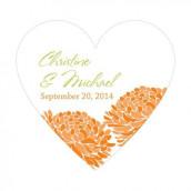 Le sticker coeur zinnia - 8 coloris