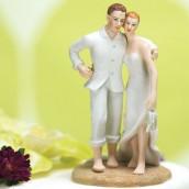 La figurine de mariage plage en porcelaine