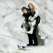 La figurine de mariage sport d'hiver