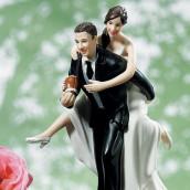 La figurine de mariage Fan de rugby pour gâteau