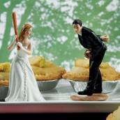 La figurine de mariage base ball
