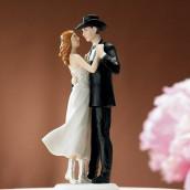 La figurine de mariage western cake topper