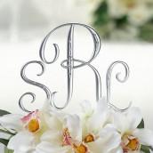 Le monogramme pour gâteau mariage