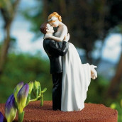 La figurine de gâteau romance