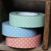 Le rouleau de washi tape à pois (5 couleurs)
