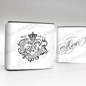 Les 10 bandes personnalisées sceau royal pour boîte cube
