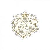 Le sticker personnalisé sceau royal
