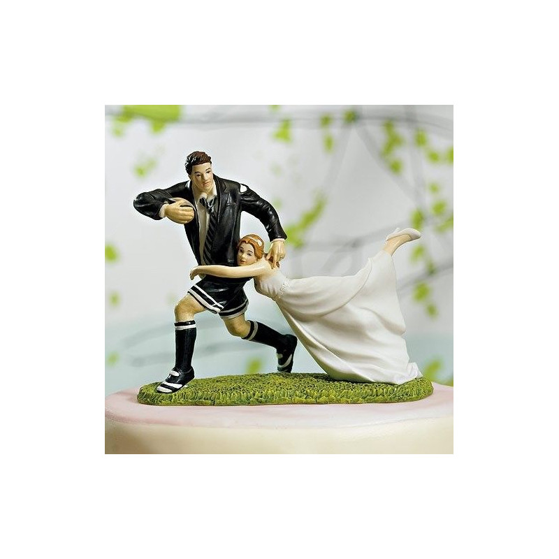 Figurine Mariage Rugby Pour Gateau