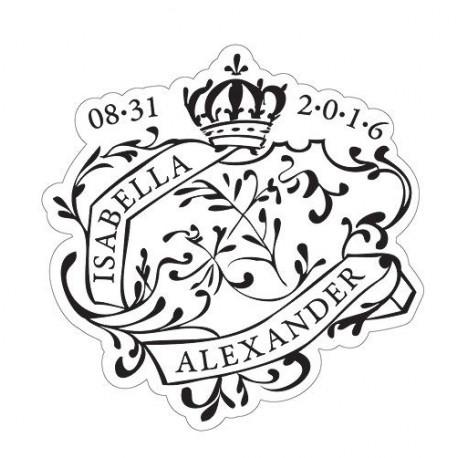 Le sticker personnalisé sceau royal géant -4 coloris