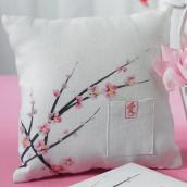 Le coussin d'alliances fleur de cerisier