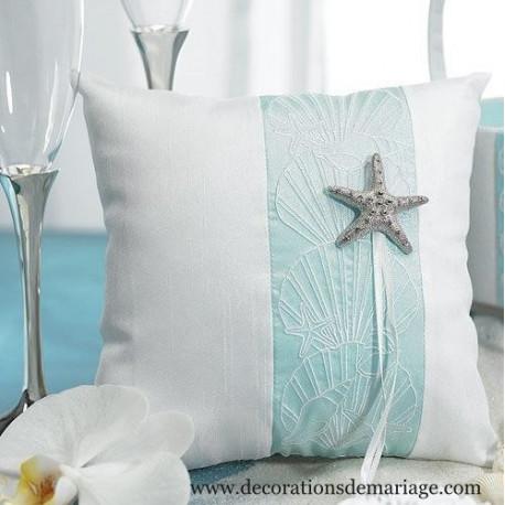 coussin alliances mariage etoile de mer. Black Bedroom Furniture Sets. Home Design Ideas