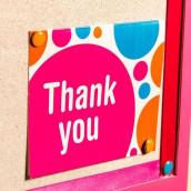 Les 12 cartes de remerciement pop