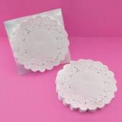 Les 40 napperons dentelle papier 11,5cm  ronds