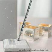 Le porte stylo gris strass