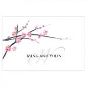 Les 12 cartes 7,6cmx5cm fleur de cerisier