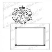Les 12 cartes 7,6cmx5cm sceau royal